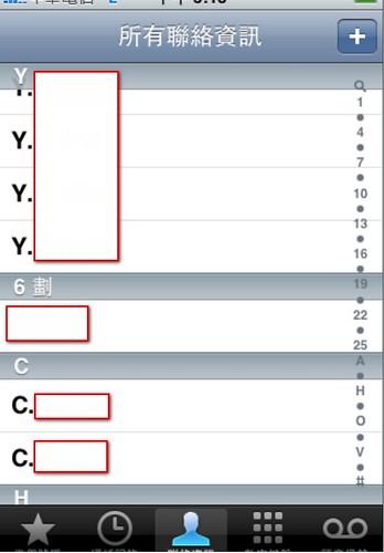 [求助] 電話簿聯絡人的英文排序問題(A-Z重複群組問題) - iPhone4.TW