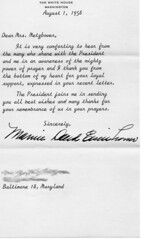 Letter from Mamie Eisenhower