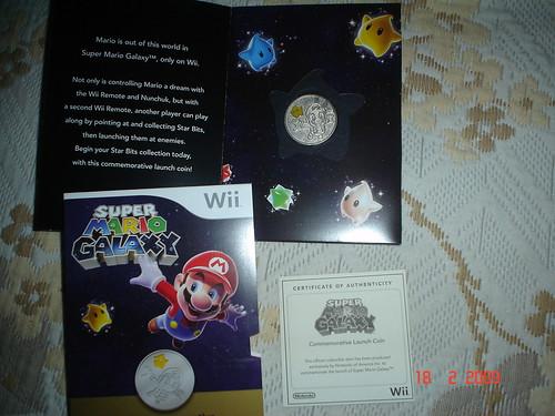 Mi moneda de Mario Galaxy
