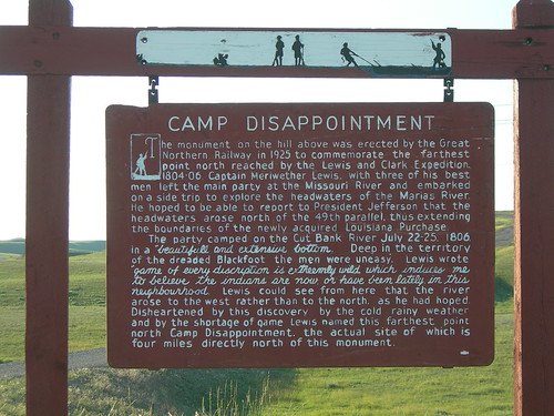 Camp Disappointment Historic Marker