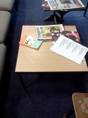 purpos/ed book in staffroom