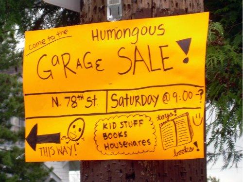 Humongous Garage Sale!