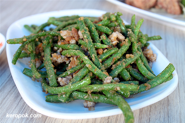 Long beans with mince