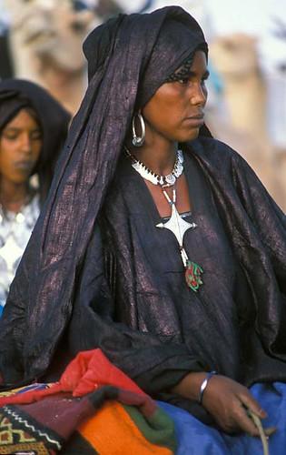 wearing indigo cloth