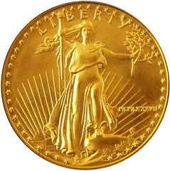 U.S. gold five dollar 1987