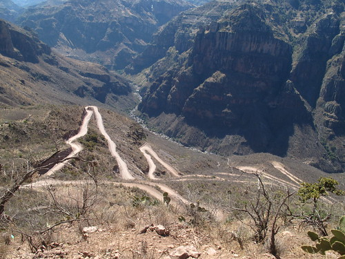 Some of the many hairpin bends