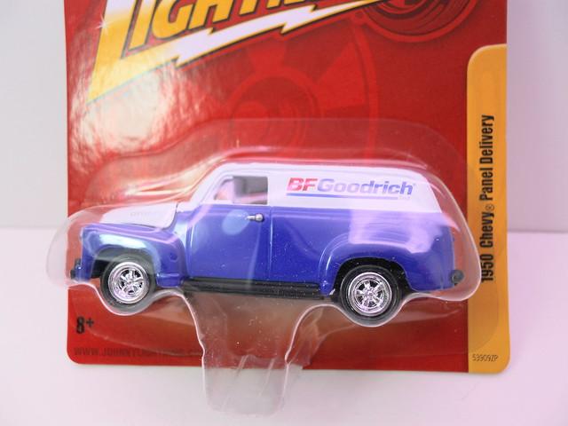 johnny lightning 1950 chevy panel delivery bf goodrich (2)