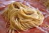 Fresh Homemade Spaghetti Pasta Resting