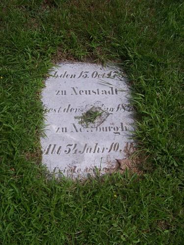 German tombstone