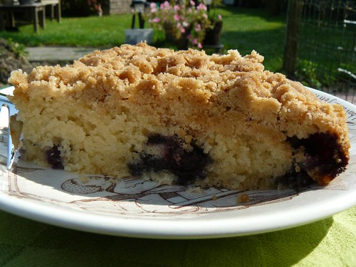 East Coast Coffee Cake with Blueberries