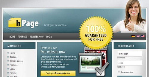 Create Your Own Free Website With Hpage !  Techpinas
