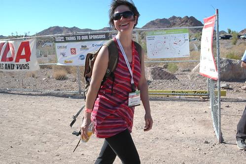 Amy Walker of Momentum Magazine at Outdoor Demo