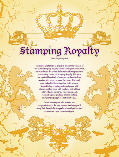 Congratulations to our 2009 Stamping Royalty! Click the image to see the entire feature online.