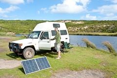 Hier mit aufgebautem Solarpanel