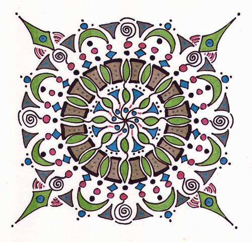 mandala #22, marker & gel ink (c) Lynne Medsker