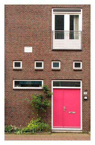 Pink door by you.