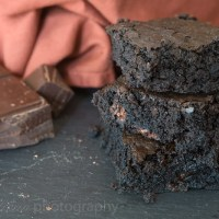 Sinfully Dark Chocolate Brownies