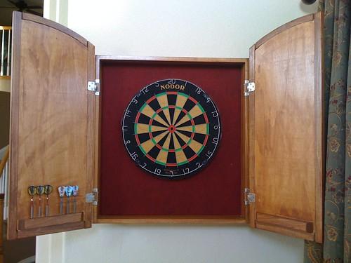 Dartboard Cabinet Interior - Incomplete