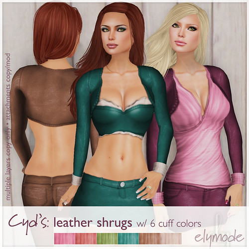 Cyd's leather shrug