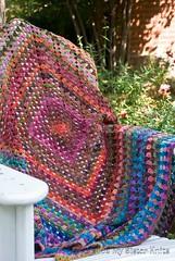 Noro Silk Garden Sock Granny Square Blanket