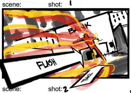 You can find more storyboard images over at the blog of one the artists who worked on the game.