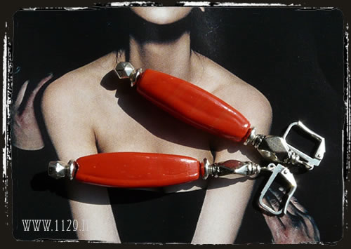 orecchini rossi - red earrings ILROSS