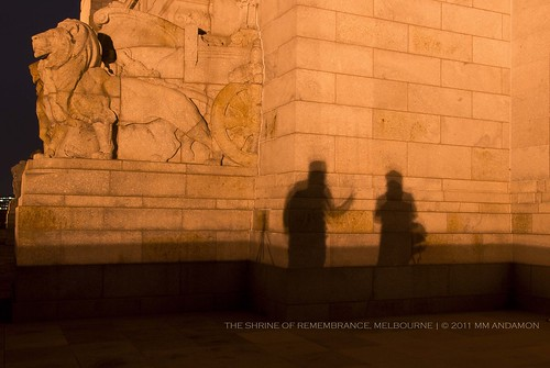 at the Shrine of Remembrance