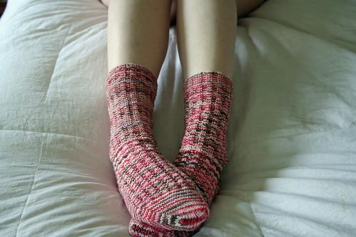 2009.2.13 - Valentine's socks