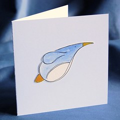 penguin pop-up xmas card pf03