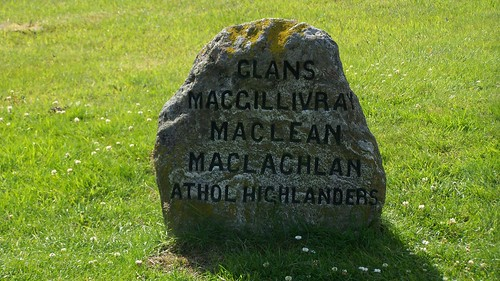 Site of a mass clan burial at Culloden moor