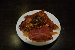 Spiced donkey meat