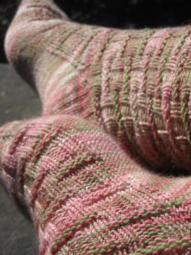 """Bricker socks - Knit Me Now in """"Lady Slipper"""""""