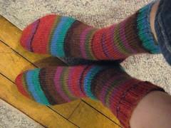 warm socks in a hurry