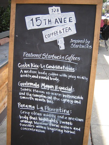 Coffee Menu Sandwich sign