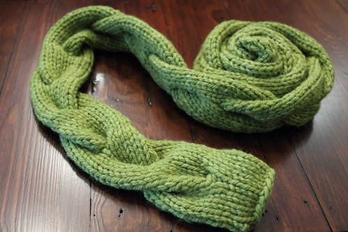 braided cable scarf