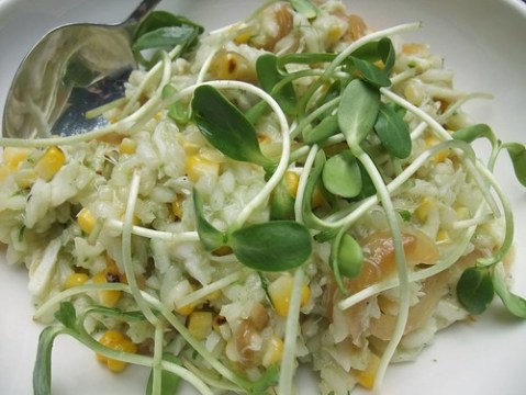 Lump Crab and Sweet Corn Risotto at Basi Italia