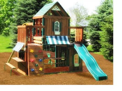 juneau playset swing-n-slide