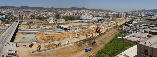 Panorámica entorno futura Estación de La Sagrera - Norte - 25-05-11