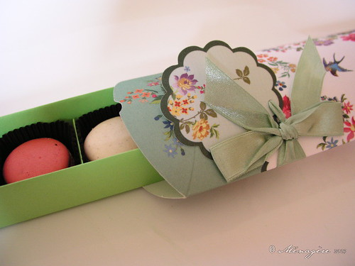 Green Floral Gift Box