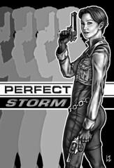Perfect Storm pin-up by Logan Zawacki