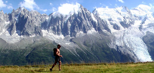 fit hiker in the Alps