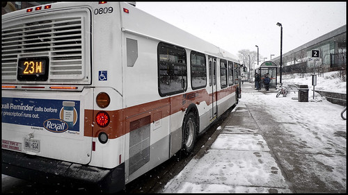 Snow, Bus Stop (by StarbuckGuy)