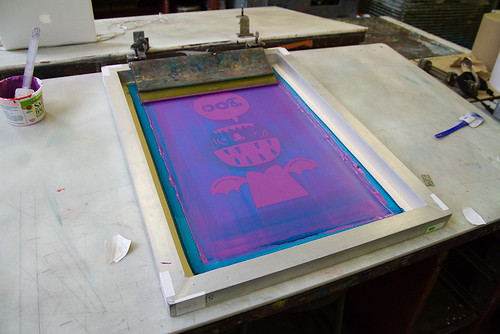 screenprint class week 3.5: printing