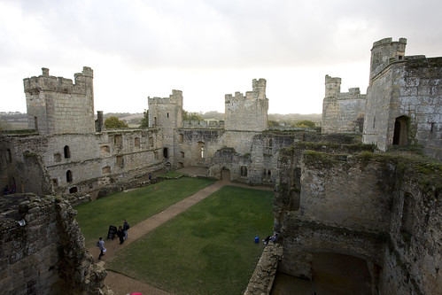 The interior of Bodiam Castle