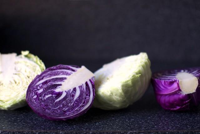 红色和绿色卷心菜