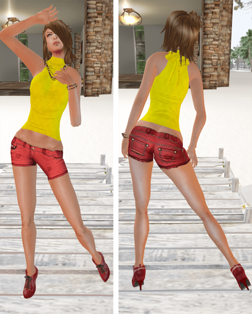NEW! DYN Yellow Halter Top