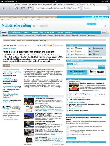 Münstersche Zeitung, 12.05.2011 (Onlineausgabe)