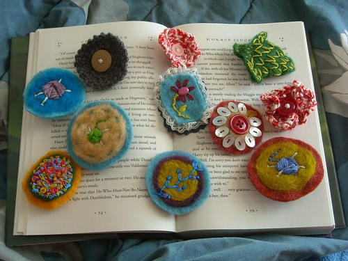 collection of brooches