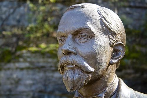Jack Daniel's statue in Lynchburg, Tennessee, USA