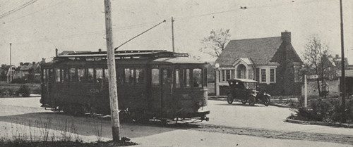 Trolley Line Terminus at Miller Park in 1921
